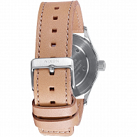 Nixon SENTRY 38 LEATHER SILVER/BRIGHT CORAL/NATURA