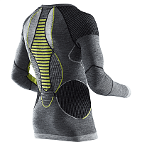 X-Bionic APANI MERINO BY X-BIONIC MAN UW SHIRT LG SL ROUNDN black/grey/yellow