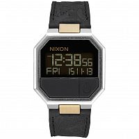 Nixon RE-RUN LEATHER BLACK/BRASS