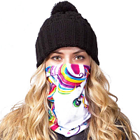 Celtek SUN BEAM NECK GAITER LISA FRANK RAINBOW MAJESTY