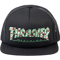 THRASHER ROSE MESH HAT BLACK