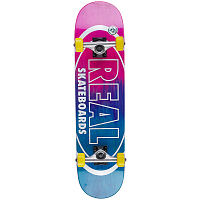 REAL SKATEBOARDS CMPLT MTLLC OVAL FADE 7,5
