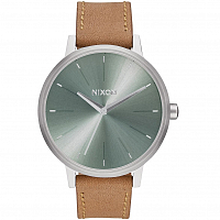 Nixon Kensington Leather SADDLE/SAGE