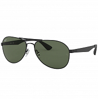 RAY BAN RB3549 MATTE BLACK/GREEN
