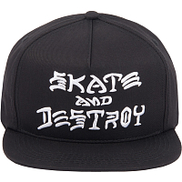 THRASHER SKATE AND DESTROY SNAPBACK BLACK