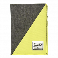 Herschel RAYNOR PASSPORT HOLDER RFID Black Crosshatch/Evening Primrose