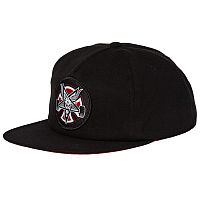 Independent PENTAGRAM CROSS ADJUSTABLE SNAPBACK HAT BLACK