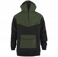 Majesty ANORAK SOFTSHELL BLACK/ARMY GREEN