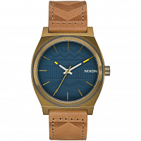 Nixon Time Teller BRASS / NAVY / HICKORY