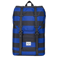 Herschel RETREAT YOUTH Black/Surf the Web Stripes