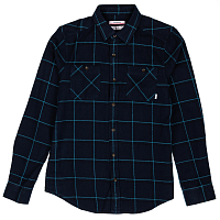 Nixon MAGEE L/S WOVEN NAVY PLAID