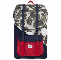 Herschel Little America Frog Camo/Barbados Cherry/Polka Dot