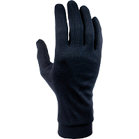 CAIRN SILK GLOVES W BLACK