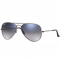 Ray Ban Aviator Large Metal GUNMETAL/CRYSTAL POLAR BLUE GRAD.GREY