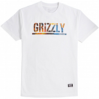 Grizzly STAMPED SCENIC S/S TEE White