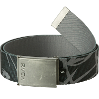 RVCA BLOCK PRINT WEB BELT PIRATE BLACK