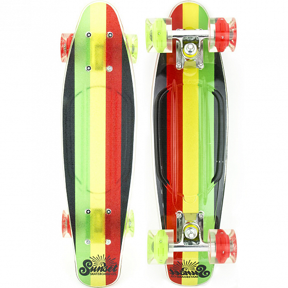 КОМПЛЕКТ СКЕЙТБОРД SUNSET SKATEBOARDS RASTA GRIP COMPLETE 27 SS15 от SUNSET SKATEBOARDS в интернет магазине www.traektoria.ru - 1 фото