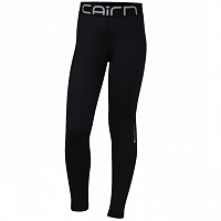 CAIRN WARM PANT J BLACK WHITE LOGO