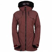 686 PARKLAN FORTUNE INS JACKET BLACK RUBY HEATHER