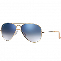 Ray Ban AVIATOR LARGE METAL GOLD/CRYSTAL GRADIENT LIGHT BLUE