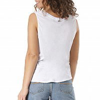 Rusty BARE V NECK TANK White