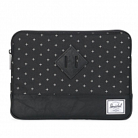 Herschel HERITAGE SLEEVE FOR IPAD AIR Black Gridlock/Black Synthetic Leather