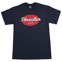 THRASHER OVAL T-SHIRT Navy Blue