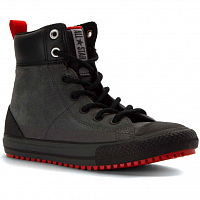 CONVERSE CHUCK TAYLOR ALL STAR ASPHALT BOOT HI THUNDER/SIGNAL RED/BLACK
