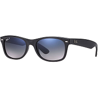 Ray Ban NEW WAYFARER MATTE BLACK/POLAR BLUE GRAD. GREY