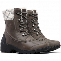 SOREL WHISTLER MID Quarry, Black