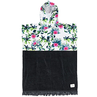 Rip Curl BLACK SANDS HOODED TOWEL White