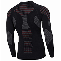 BodyDry BIONIC LONG SLEEVE SHIRT BLACK/RED