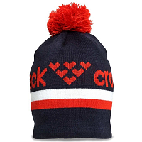 BLACK CROWS NOMEN BEANIE NAVY/WHITE/RED