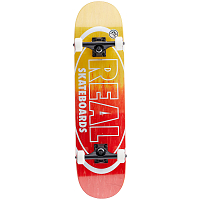 REAL SKATEBOARDS CMPLT MTLLC OVAL FADE 7,75
