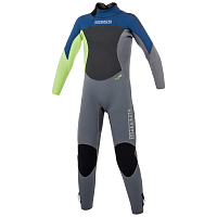 Mystic STAR FULLSUIT 5/4MM BZIP JUNIOR NAVY