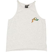 Rusty RIPPLE TANK WHITE MARLE