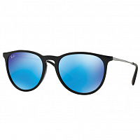 RAY BAN ERIKA BLACK/LIGHT GREEN MIRROR BLUE