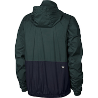 Nike M NK SB DRY JKT HOODED STRIPE MIDNIGHT GREEN/WHITE/OBSIDIAN