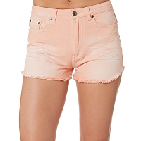Rusty YESTERDAYS COLOUR HIGH DENIM SHORT SHELL PINK