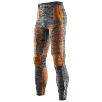 X-Bionic EVO MELANGE UW PANTS LONG Grey Melange/Orange