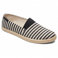 Quiksilver ESPADRILLED M SHOE BLACK/BLACK/BROWN