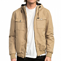 RVCA HOODED BOMBER II DARK SAND