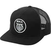 RVCA TIGER PATCH TRUCKER BLACK