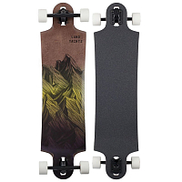 Landyachtz SWITCHBLADE MOUNTAIN FADE COMPLETE YELLOW