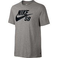 Nike SB LOGO TEE DK GREY HEATHER/BLACK