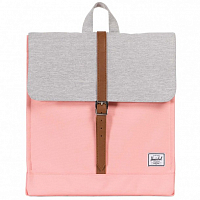 Herschel CITY MID-VOLUME Peach/Light Grey Crosshatch/Tan Synthetic Leather