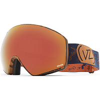 VonZipper JETPACK JOHN JACKSON - WALNUT SATIN / WILD BLACK FIRE
