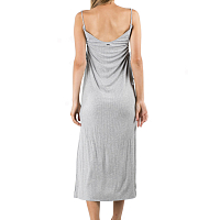 Rusty LUCK RIB DRESS GREY MARLE