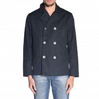 Makia CANVAS PEA COAT NAVY