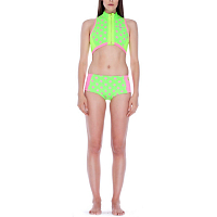Glidesoul Top 0,5 with Front zipper Lime/Pink/Lemon